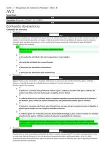 AV2 - Bioquímica dos Alimentos (Nutrição) - 20211 B
