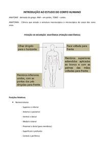intrudução ao corpo humano