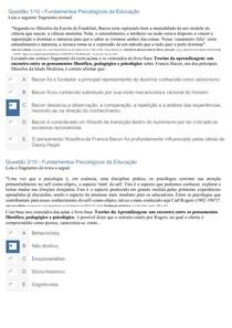 APOL 2 - Fundamentos Psicológicos da Educação - NOTA 100