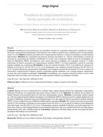 Prevalência de comportamento bulímico e fatores associados em universitárias