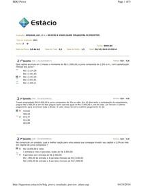 av1 SELEÇÃO E VIABILIDADE FINANCEIRA DE PROJETOS