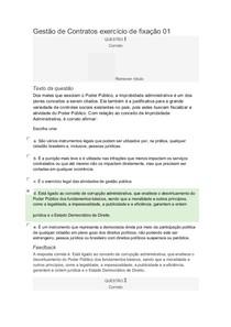 Gestão de Contratos exercício de fixação 01