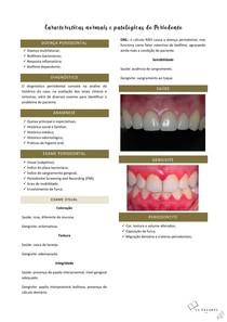 Características normais e patológicas do periodonto