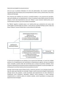 Sistema de acumulação de custo por processo