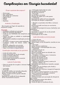 Complicações em Cirurgia bucodental