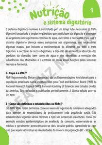 Nutrição e Sistema digestório - DRIs, RDAs