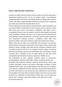 RECURSO TERAPÊUTICO - ARGILA