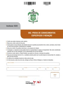 PROVA FAMERP 2020 - Faculdade de Medicina de São José do Rio Preto