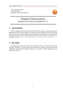 Exercícios Resolvidos Guidorizzi volume 3 capítulo 7.1