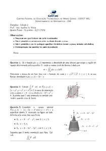 Cálculo 2 - Prof. José Jozelmo - Prova 4 resolvida
