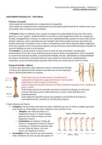 ANATOMOPATOLOGIA  – FRATURAS