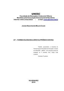 AT FARMACOLOGIA BULÁRIO ELETRÔNICO ANVISA