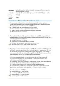 Ações, Dimensões e Aplicabilidade do Instrumental Técnico operativo  avaliacao 2