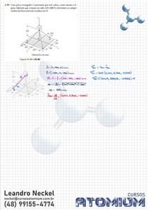 Exercício Decomposição de Força 3D - Beer Johnston 11ed Cap2 Ex2.89