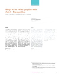 Etiologia das más oclusões - perspectiva clínica - fatores genéticos