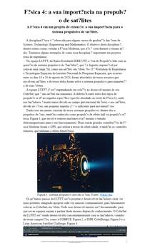 Física 4: a sua importância na propulsão de satélites