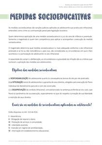 Resumo - MEDIDAS SOCIOEDUCATIVAS