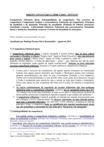 DIREITO  FINANCEIRO E TRIBUTÁRIO – PONTO 07 .1