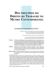Princípios de Direito doTrabalho