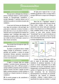 Farmacocinética III: biotransformação e excreção