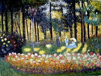 The Artist s Family in the Garden - Claude Monet
