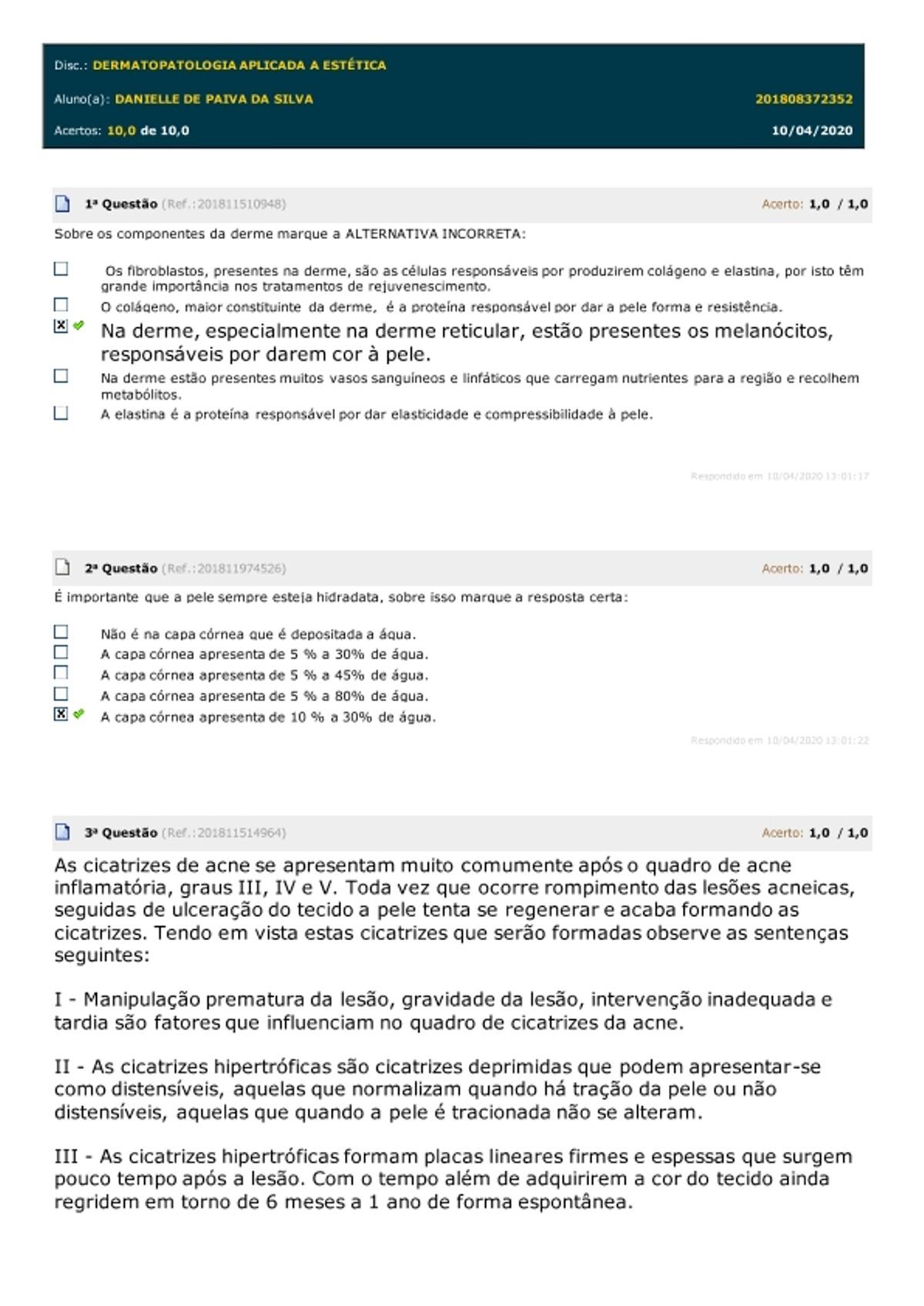 Pre-visualização do material DERMATOPATOLOGIA APLICADA A ESTÉTICA - página 1