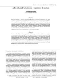 A Psicologia Evolucionista e o conceito de cultura