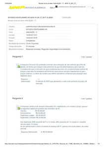 AVALIAÇÃO - TI estudos disciplinares XIII