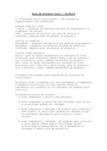 AULA 3- Diferenças entre conciliações