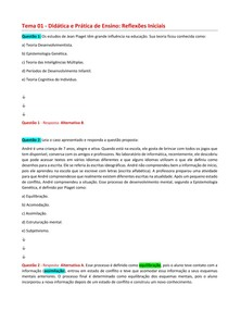 Didática - Exercícios com resposta