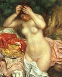 Pierre Auguste Renoir  - Bather-Arranging-Her-Hair