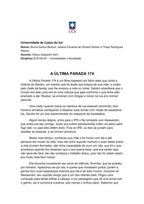 A ÚLTIMA PARADA 174