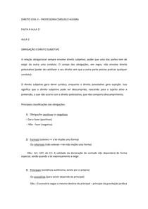 1-Civil III - Prof. Consuelo Huebra