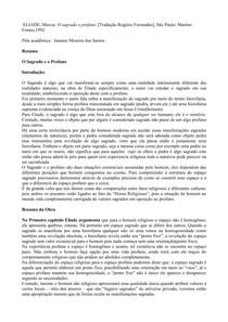 Mircea Eliade-Osagradoeoprofano-resumo-prova