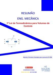 Resumão - 1ª Lei da Termodinâmica para Volumes de Controle