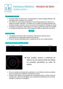 Estrutura Atômica Modelo de Bohr