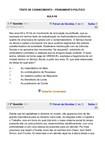 TESTE DE CONHECIMENTO AULAS 06 A 10 Pensamento Político