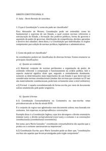 Direito Constitucional 1-¬ Aula