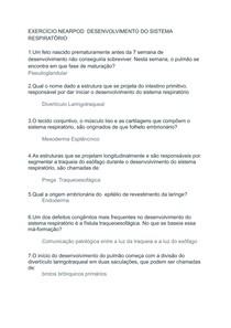 EXERCÍCIO NEARPOD DESENVOLVIMENTO DO SISTEMA RESPIRATÓRIO