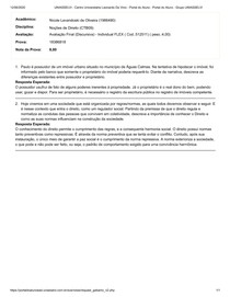 Avaliação Final Discursiva - Noções de Direito UNIASSELVI