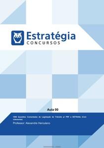 1000 QUESTÕES COMENTADAS LEGISLAÇÃO TRANSITO (ESTRATÉGIA)