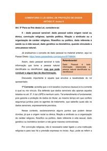 Comentários à LGPD: ARTIGO 5º, inciso II - Dados Pessoais Sensíveis ou Dados Sensíveis