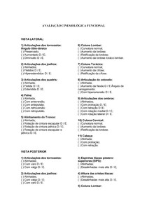Fisioterapia - AVALIAÇÃO CINESIOFUNCIONAL