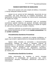 MANEJO SANITÁRIO DE BUBALINOS