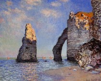 The Rock Needle And The Porte D Aval-Claude Monet