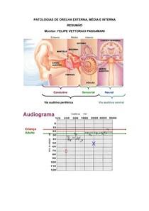 PATOLOGIAS DE ORELHA EXTERNA, MÉDIA E INTERNA e achados audiológicos