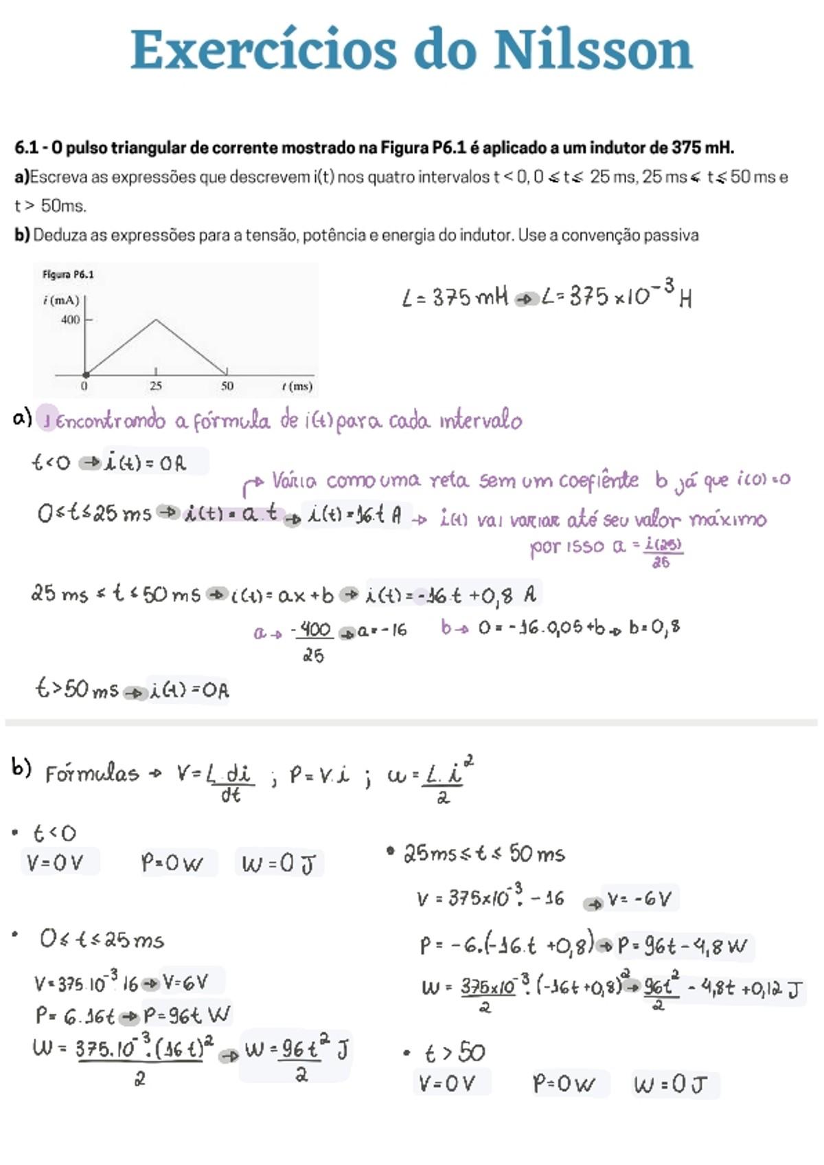 Pre-visualização do material [Resolvida] Lista de exercícios do Nilsson - Indutores e Condutores - página 1