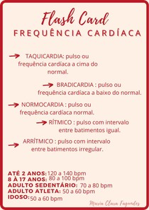 Flash Card - Frequência Cardíaca