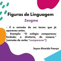 Figuras de Linguagem -Zeugma