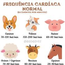 Frequência Cardiaca Normal dos animais